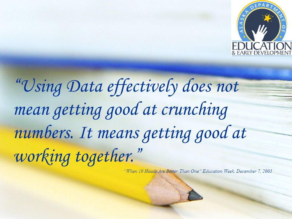 Using Data effectively does not mean getting good at crunching numbers.