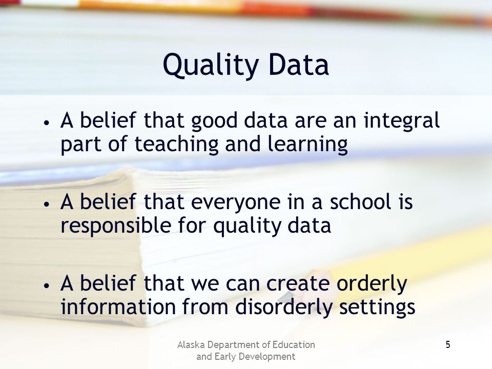 Alaska Department of Education and Early Development 16 Results – Data Instructional Program Test connected to standards.