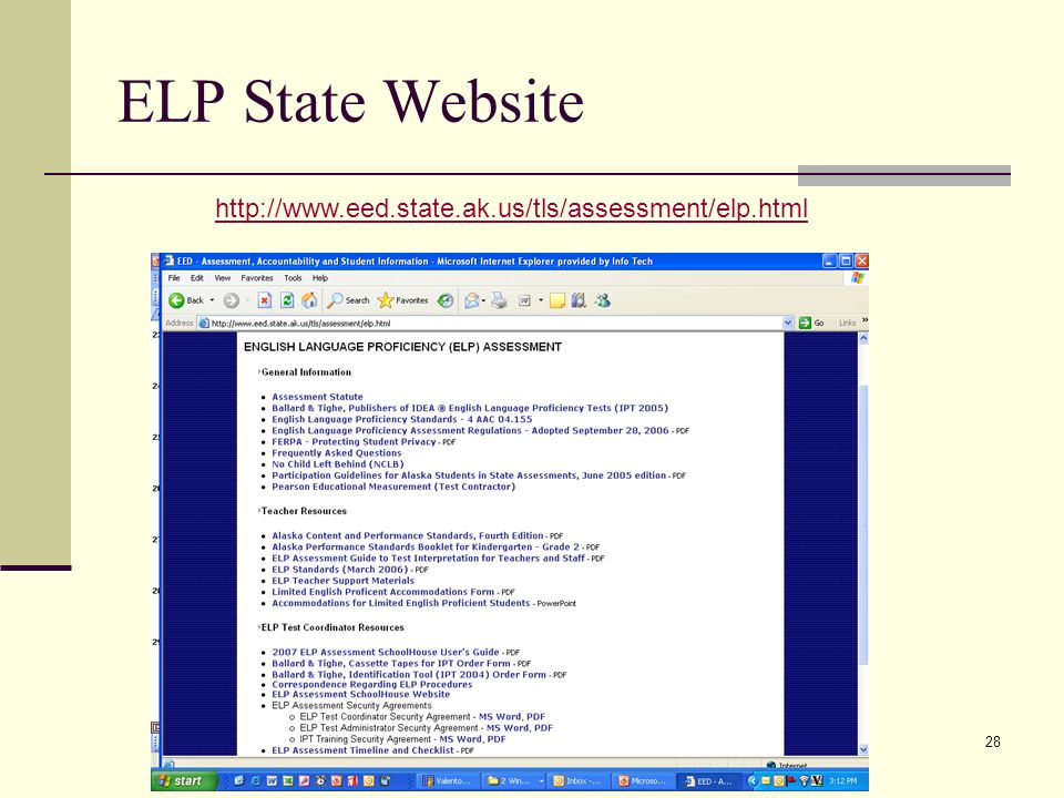28 ELP State Website