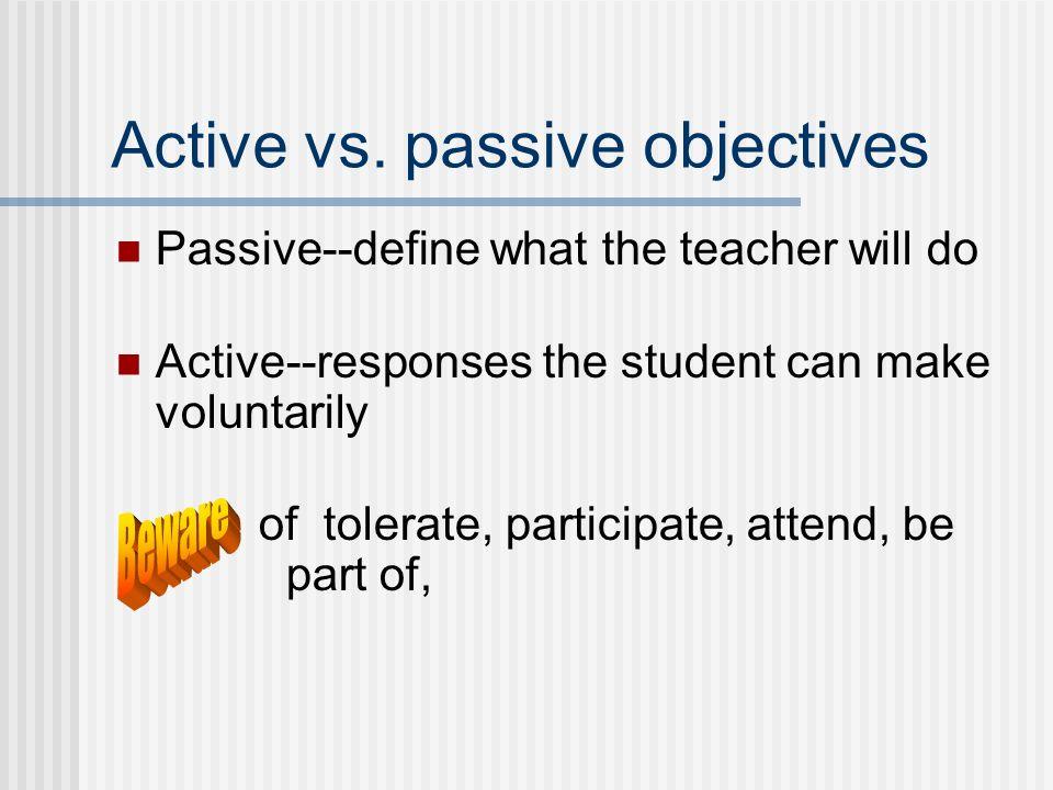 Active vs.