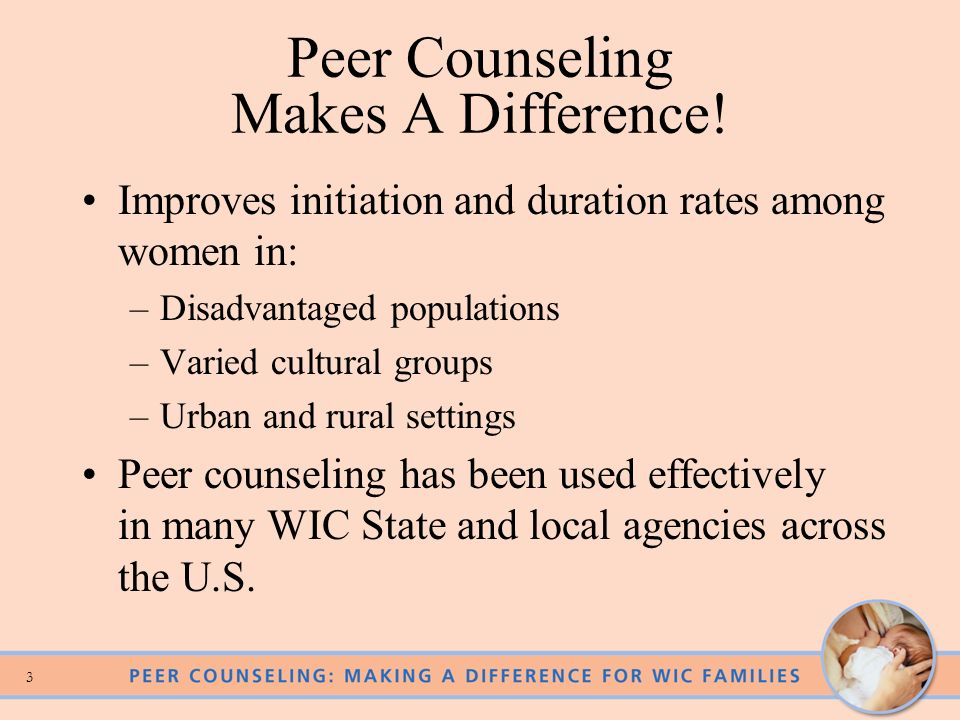 3 Peer Counseling Makes A Difference.