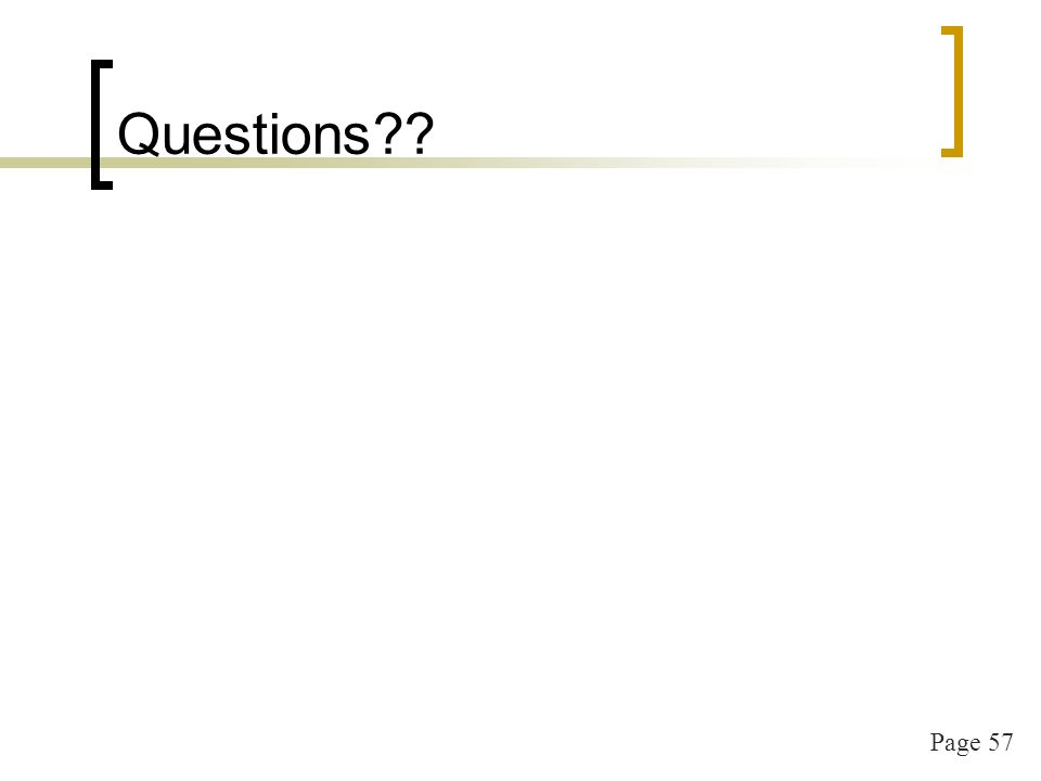 Page 57 Questions