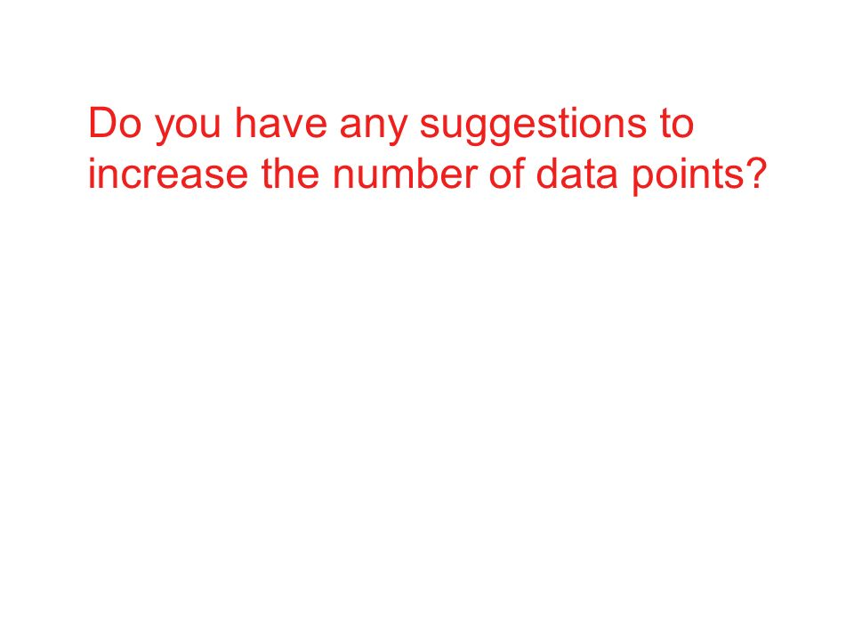 Do you have any suggestions to increase the number of data points