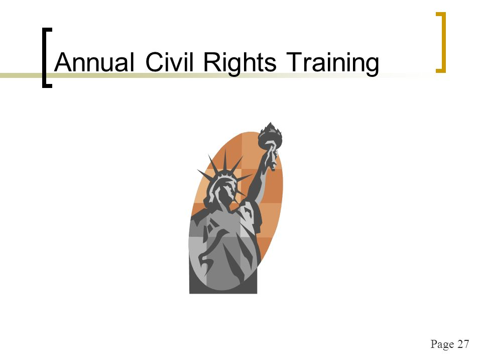Page 27 Annual Civil Rights Training