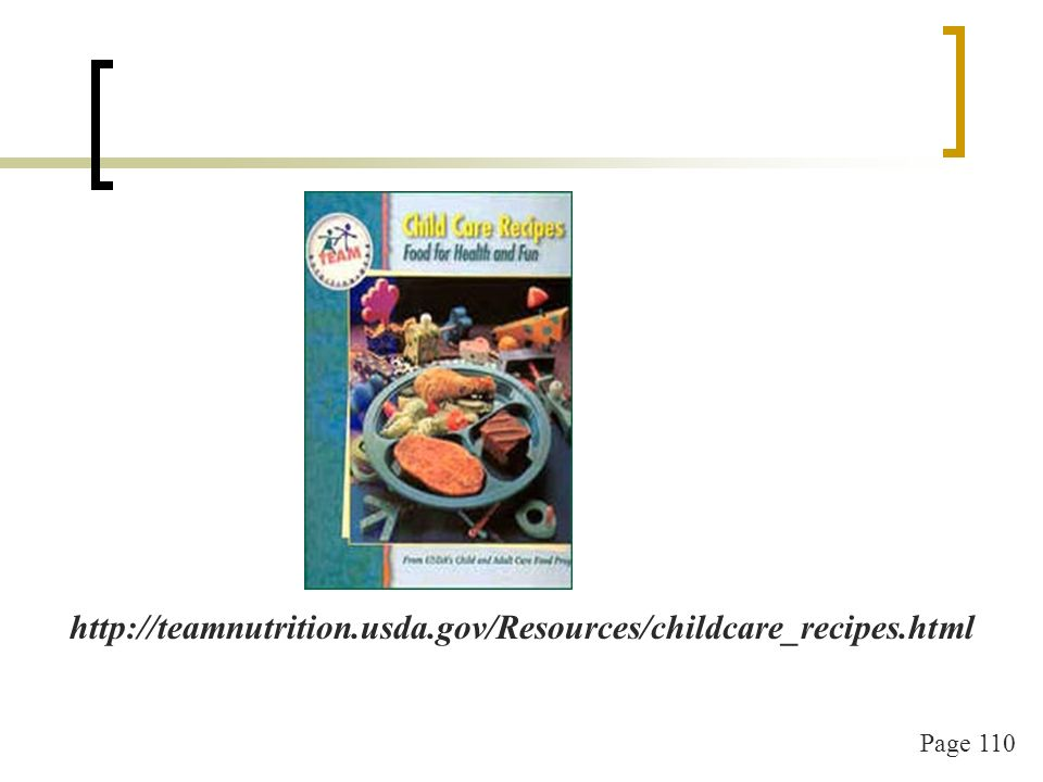 Page 110 http://teamnutrition.usda.gov/Resources/childcare_recipes.html