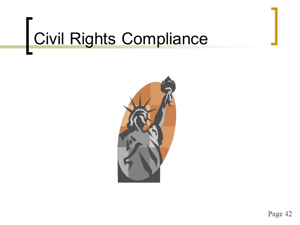 Page 42 Civil Rights Compliance