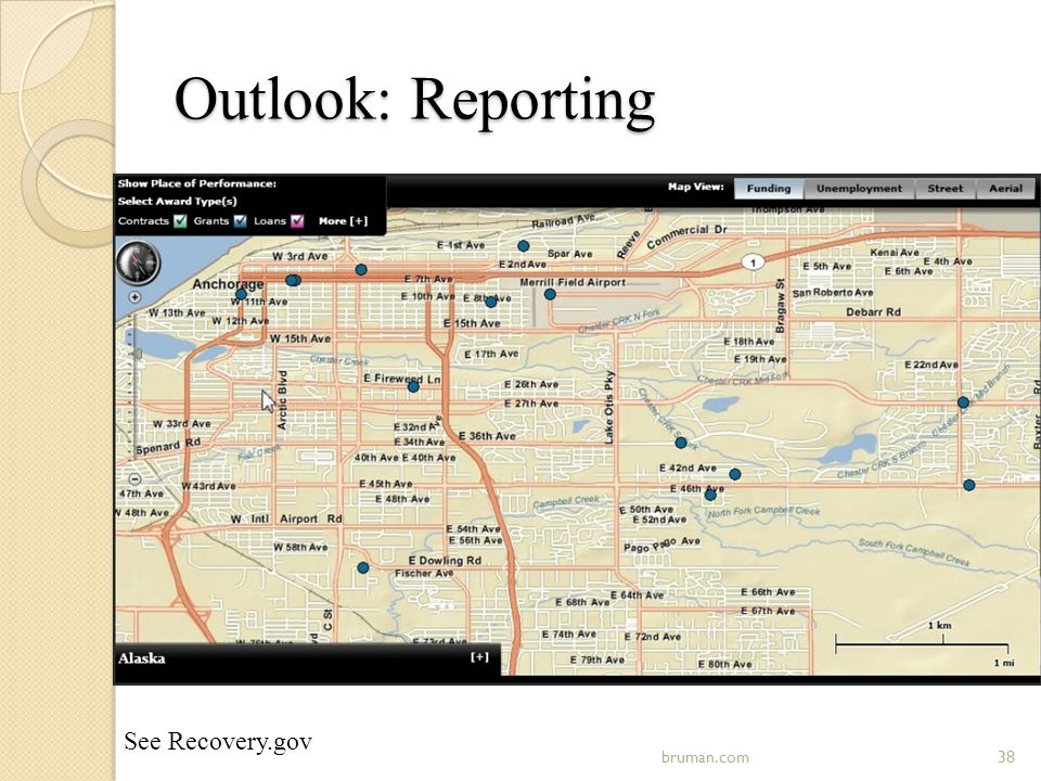 Outlook: Reporting 38bruman.com See Recovery.gov