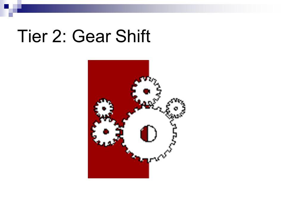 Tier 2: Gear Shift