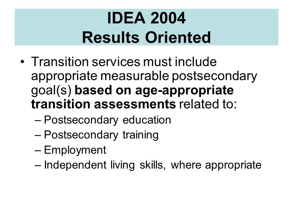 Websites: Resources for Assessment http://www.seattleu.edu/ccts –Best Practices Post-ITT http://www.postitt.org/http://www.postitt.org/ Learning Style Resources http://falcon.jmu.edu/~ramseyil/learningstyles http://falcon.jmu.edu/~ramseyil/learningstyles National Secondary Transition Technical Assistance Center –http://www.nsttac.org/ http://www.nsttac.org/