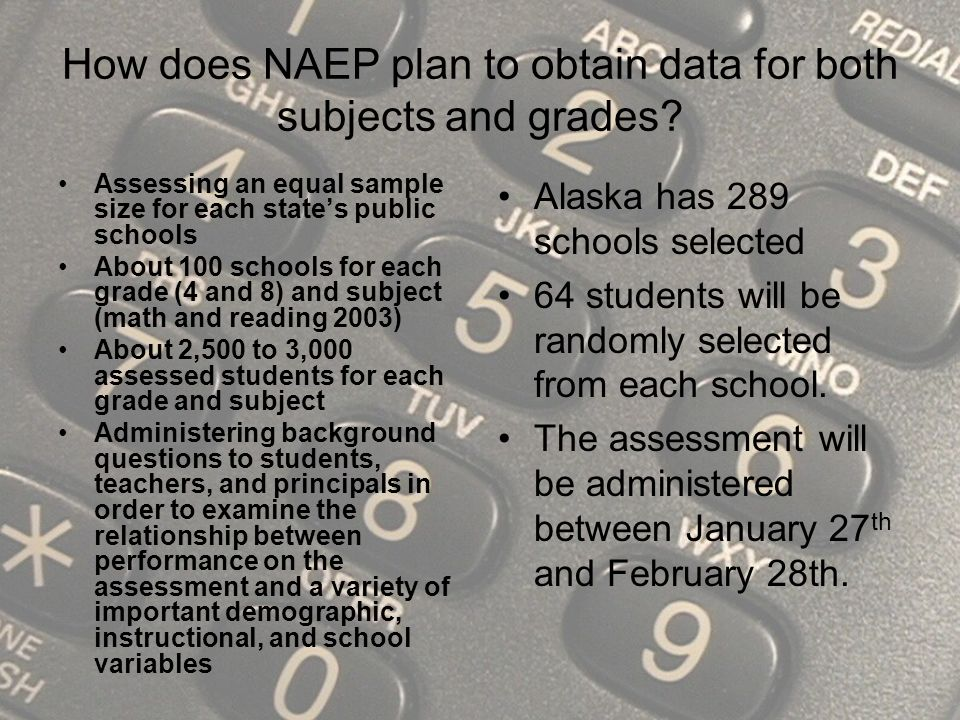How does NAEP plan to obtain data for both subjects and grades.