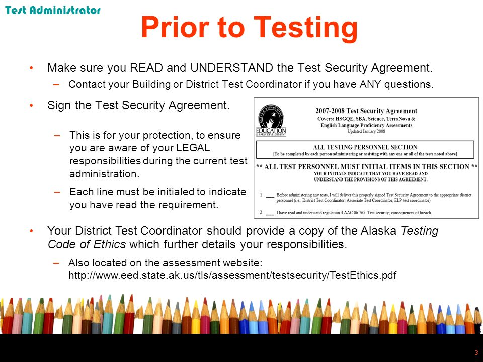 4 4 SBA Test Window All SBAs must be administered between March 31 – April 14, 2008.