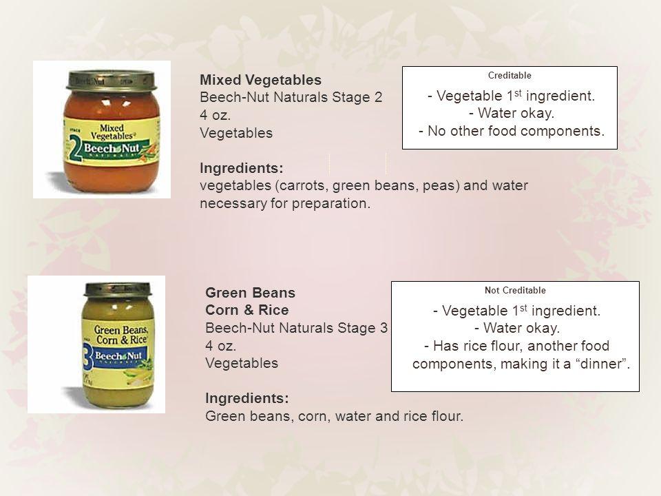 Green Beans Corn & Rice Beech-Nut Naturals Stage 3 4 oz.
