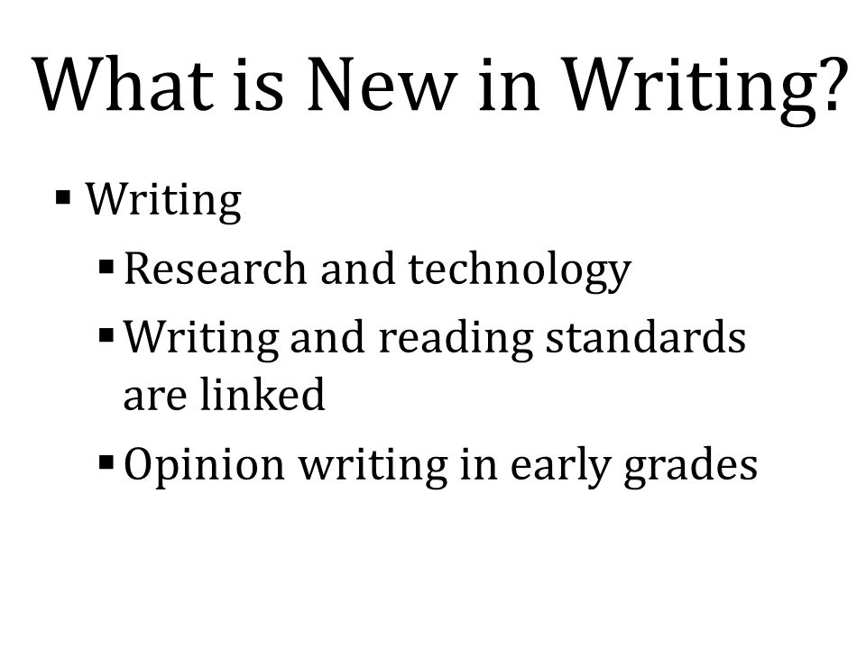 What is New in Writing.