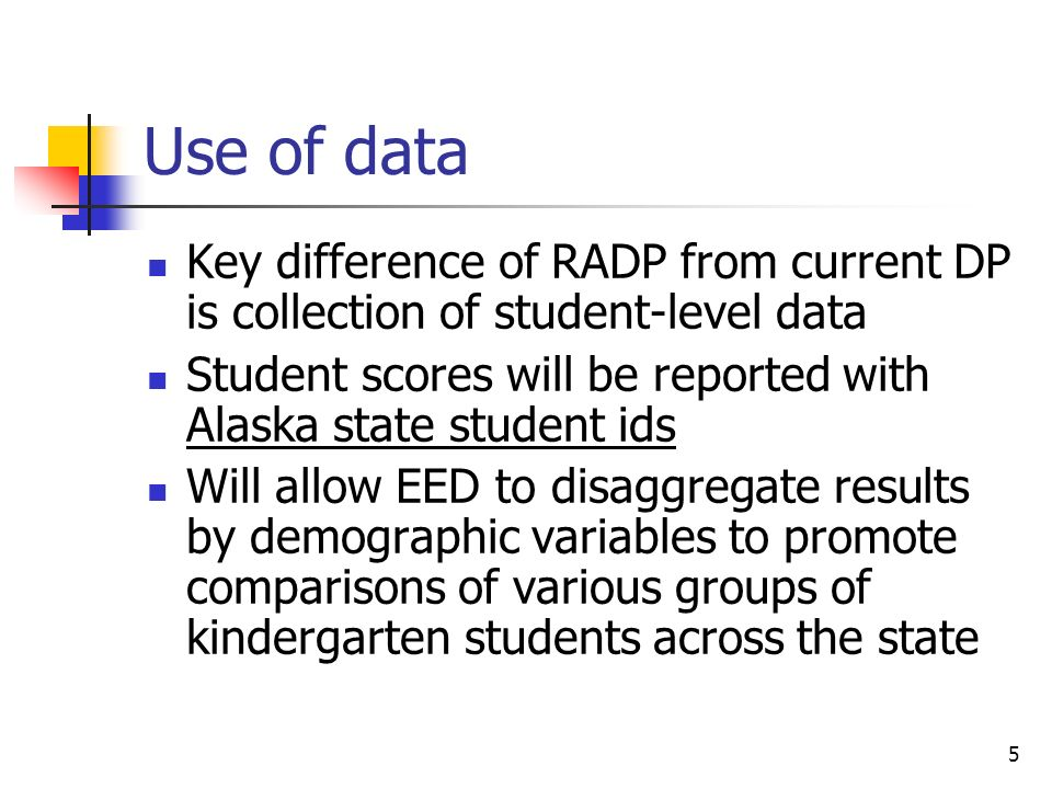 District Login EED will give districts password and login to RADP web site Districts will see database of which teachers have submitted completed RADPs to EED Districts can track teacher submissions and notify EED when all district teachers have submitted RADP 16