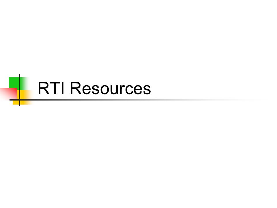 RTI Resources