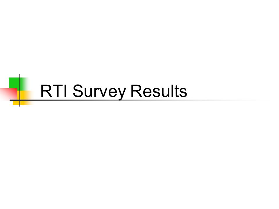 RTI Survey Results