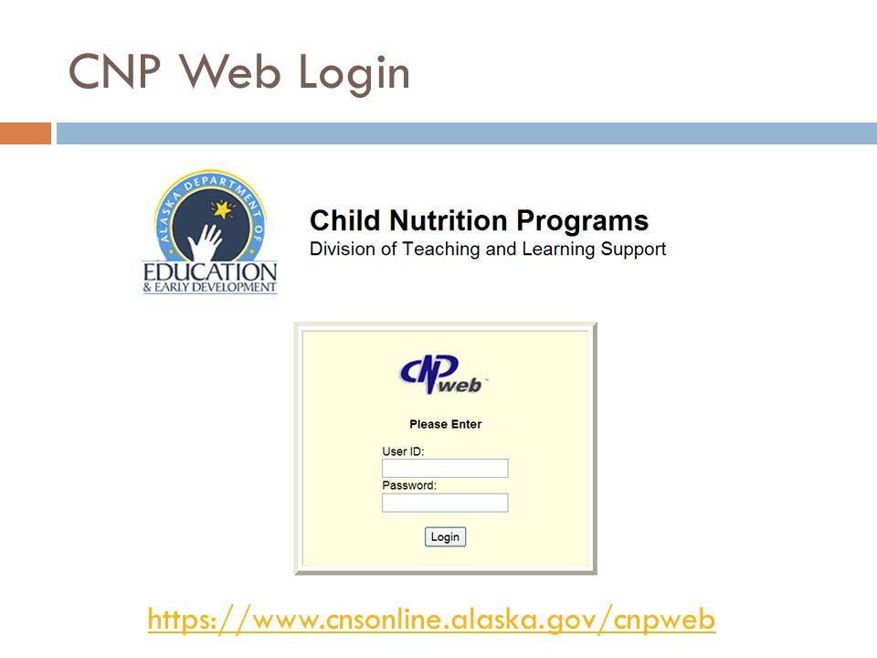 CNP Web Login https://www.cnsonline.alaska.gov/cnpweb