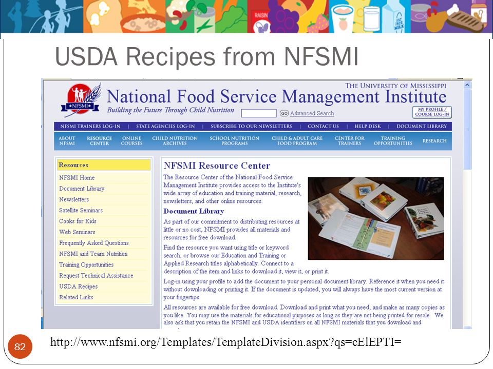 82 USDA Recipes from NFSMI http://www.nfsmi.org/Templates/TemplateDivision.aspx?qs=cElEPTI=