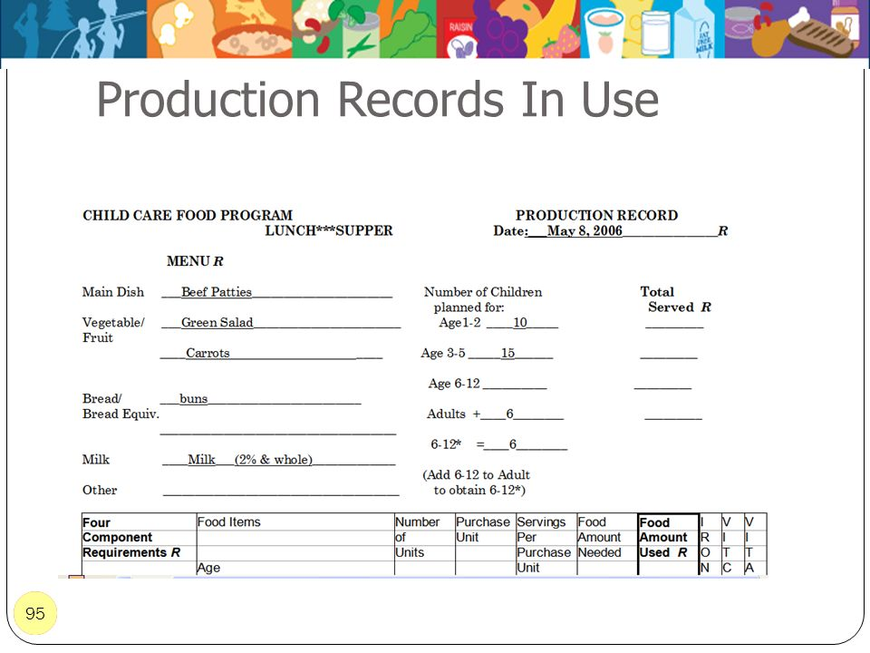 95 Production Records In Use 95