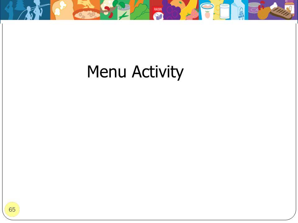 65 Menu Activity