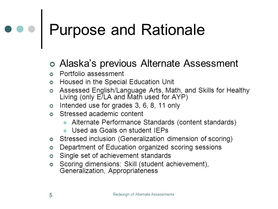 Redesign of Alternate Assessments 46 Where Are We Now.