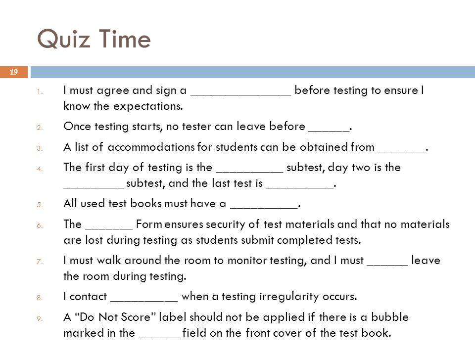 Quiz Time 1.
