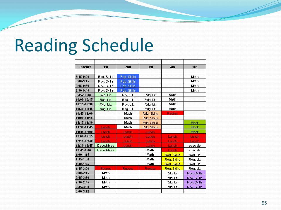 Reading Schedule 55