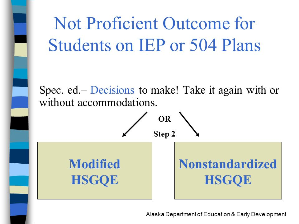 Alaska Department of Education & Early Development Spec.