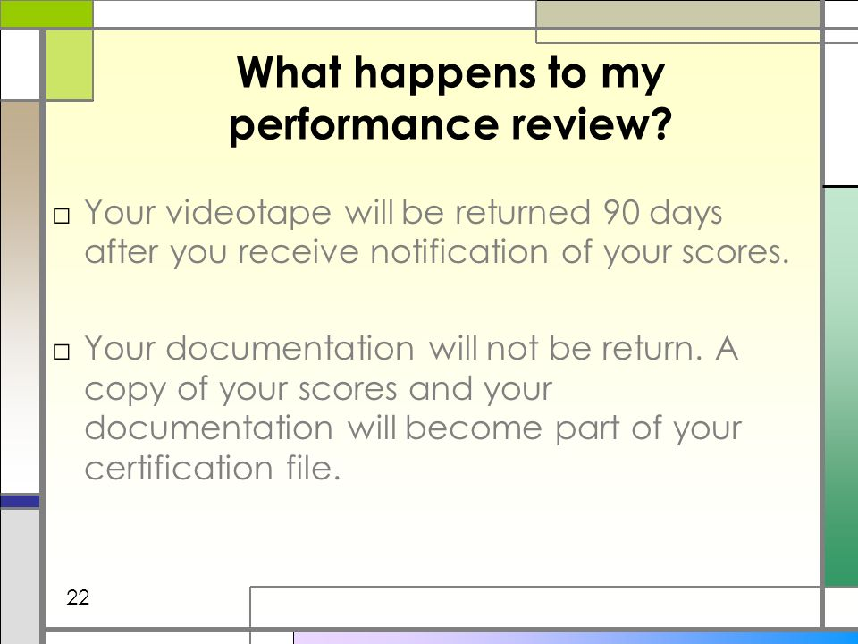 What happens to my performance review.