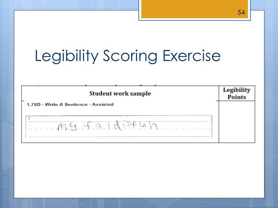 Legibility Scoring Exercise 54