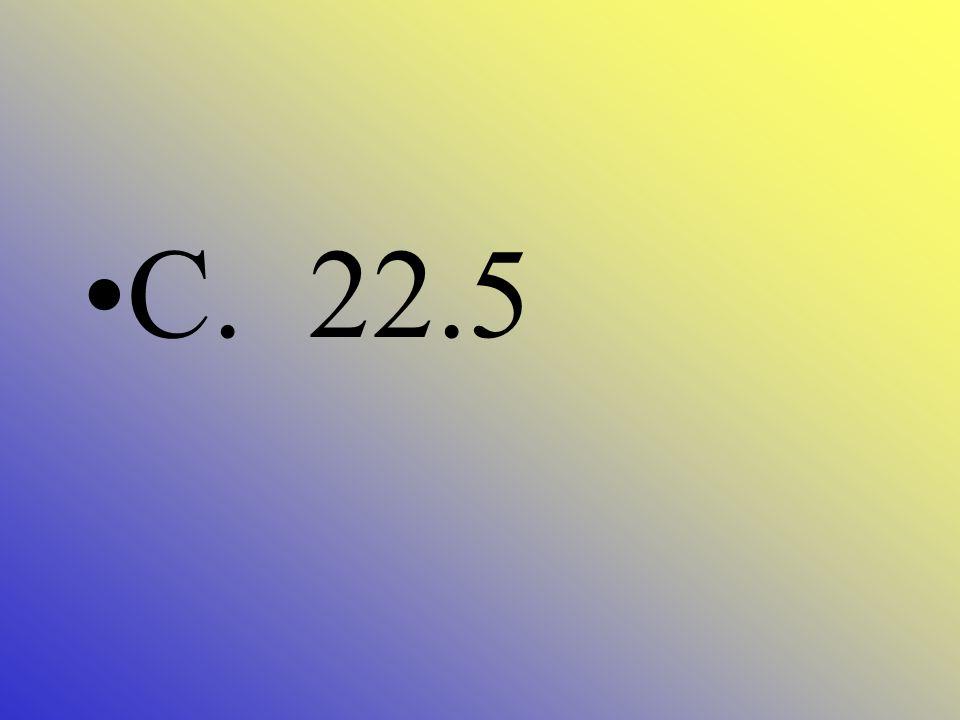 16.9 + 5.6 = __ A. 2.25 B. 22 C. 22.5 D. 225
