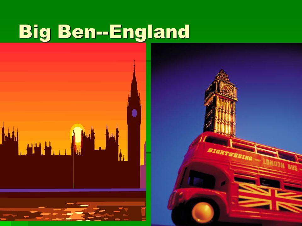 Big Ben--England