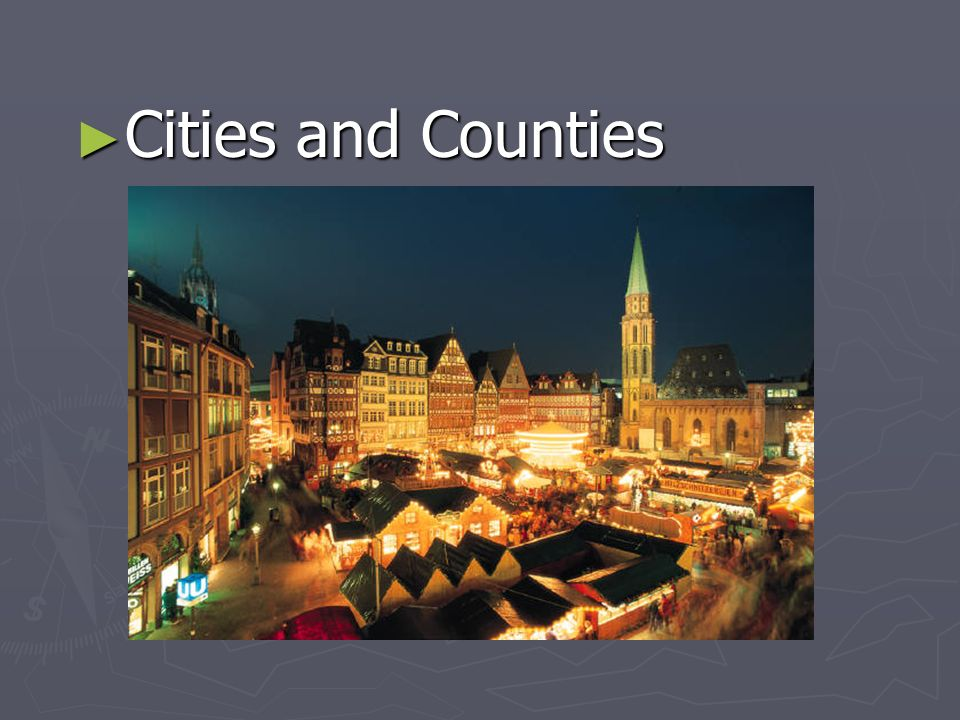 Cities and Counties Cities and Counties