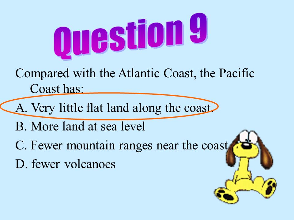 The Appalachian Mountains are lower than the Rocky Mountains because they are: F. newer G. older H. farther south J. more volcanic