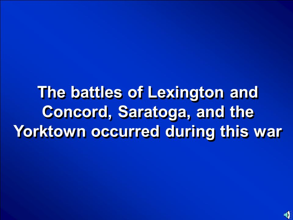 © Mark E. Damon - All Rights Reserved Scores Battles Final Jeopardy Question