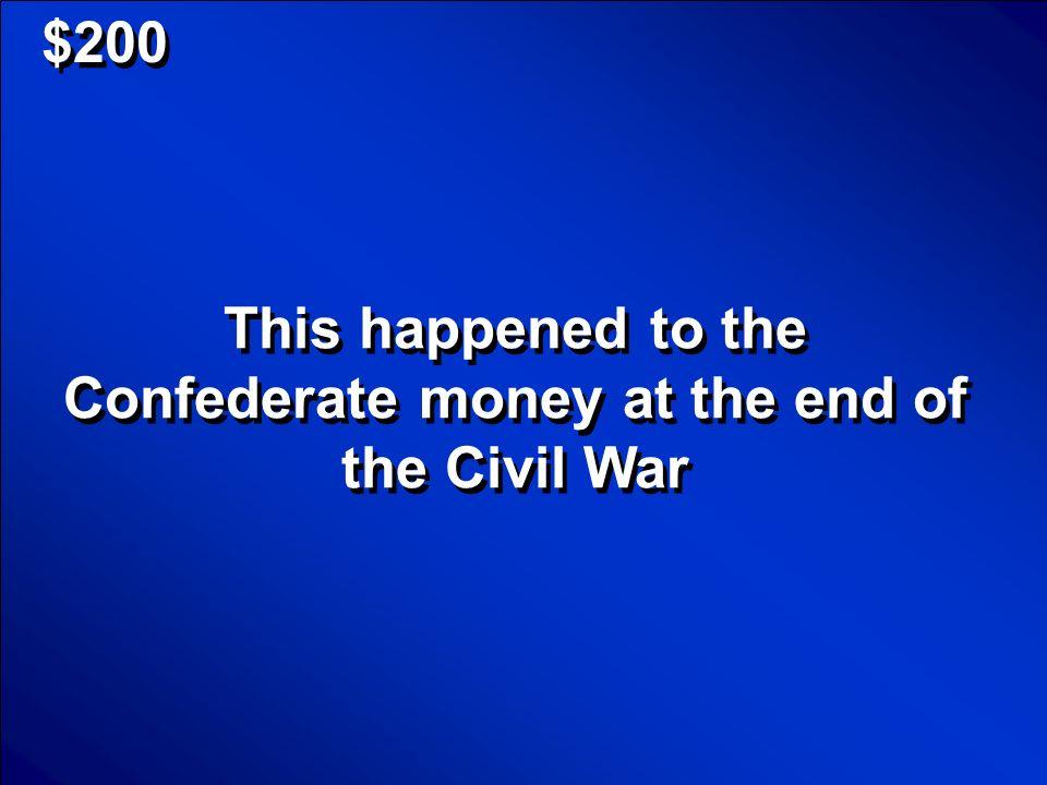 © Mark E. Damon - All Rights Reserved $200 Hardships of the Civil War