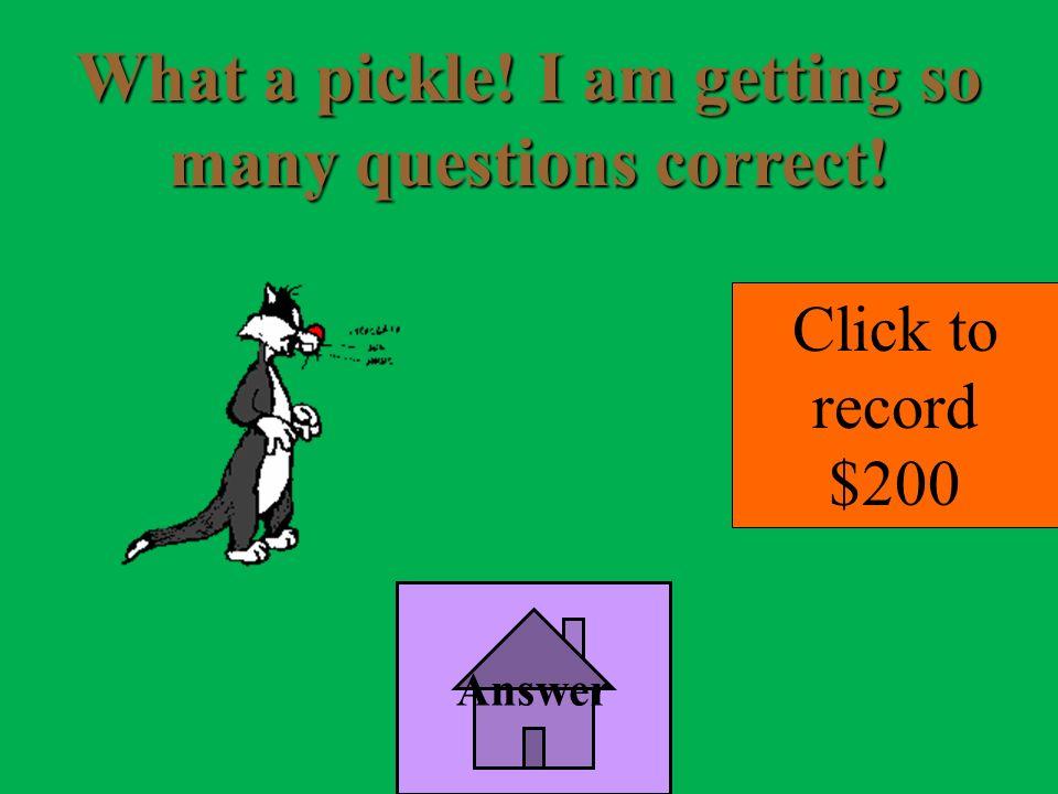 Answer 1 Topic 5 Bonus Jeopardy A. 3
