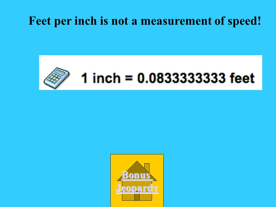 Which of the following is not a measurement of speed.