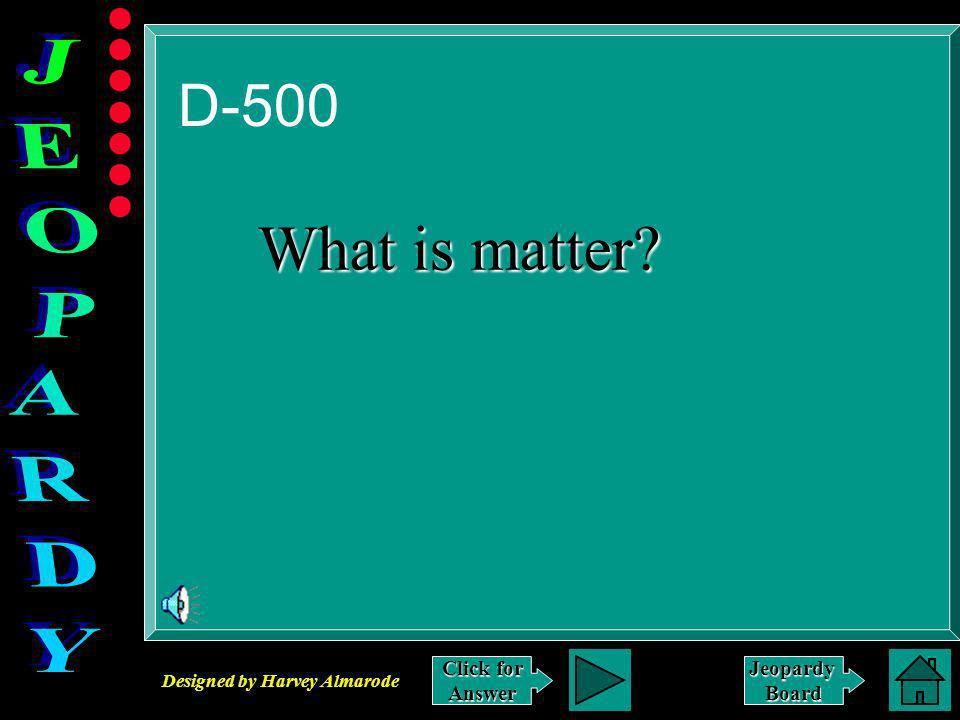 Designed by Harvey Almarode JeopardyBoard Answer to D-400 Caterpillar