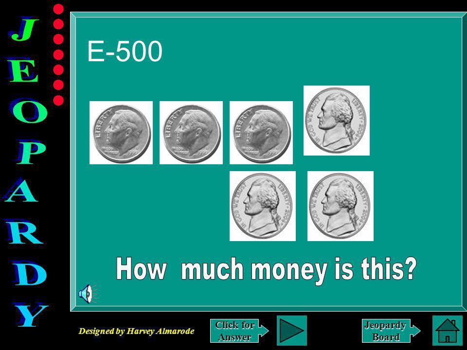 Designed by Harvey Almarode JeopardyBoard Answer to E-400 7 + 9 = 16