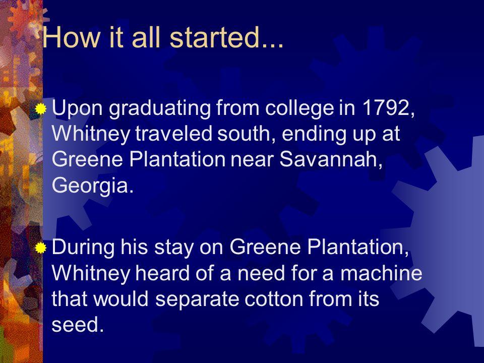 Eli Whitney Eli Whitney was Born on December 8, 1765 in Westborough, Massachusettes.