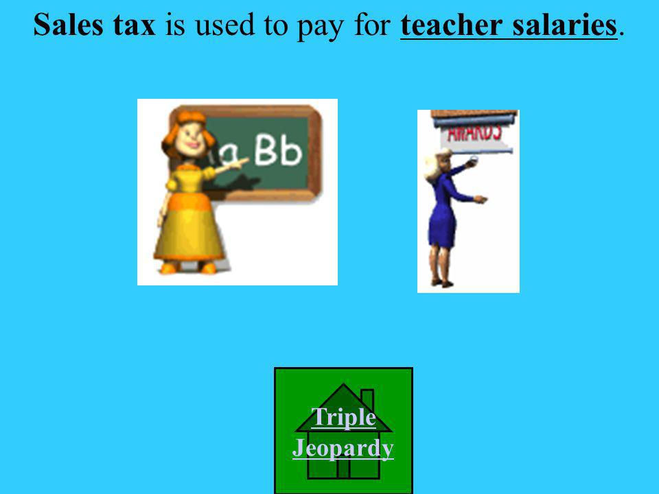 Sales tax is used to pay for: A. Highways in Virginia B. Library books C. Teacher salaries D. All of the above