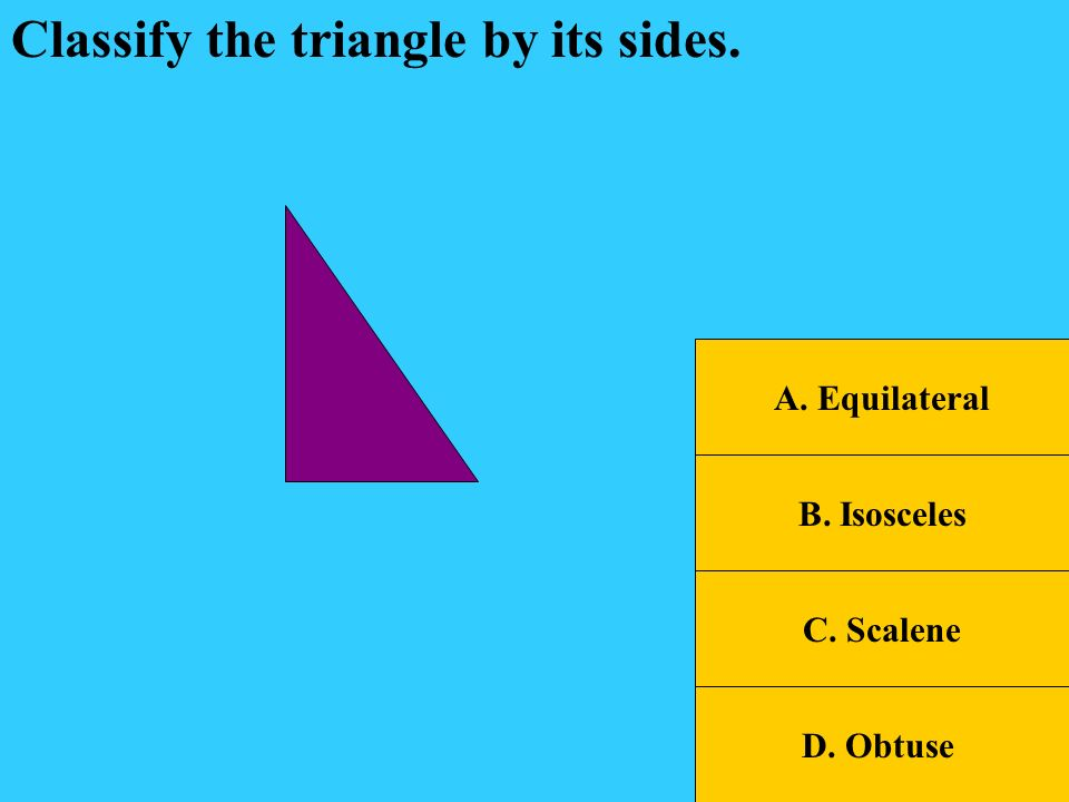 SOL Jeopardy TrianglesQuadrilateralsAnglesLinesMisc. 400 200 600 800 1000 200 400 600 800 1000 200 400 600 800 1000 200 400 600 800 1000 200 400 600 8
