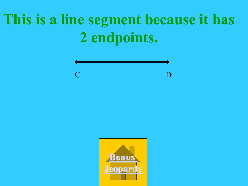 What best describes this figure A. line B. line segment C. ray D. angle CD