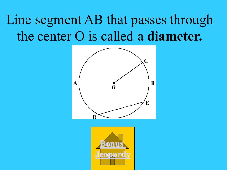 Line segment AB that passes through the center O is called a _________.