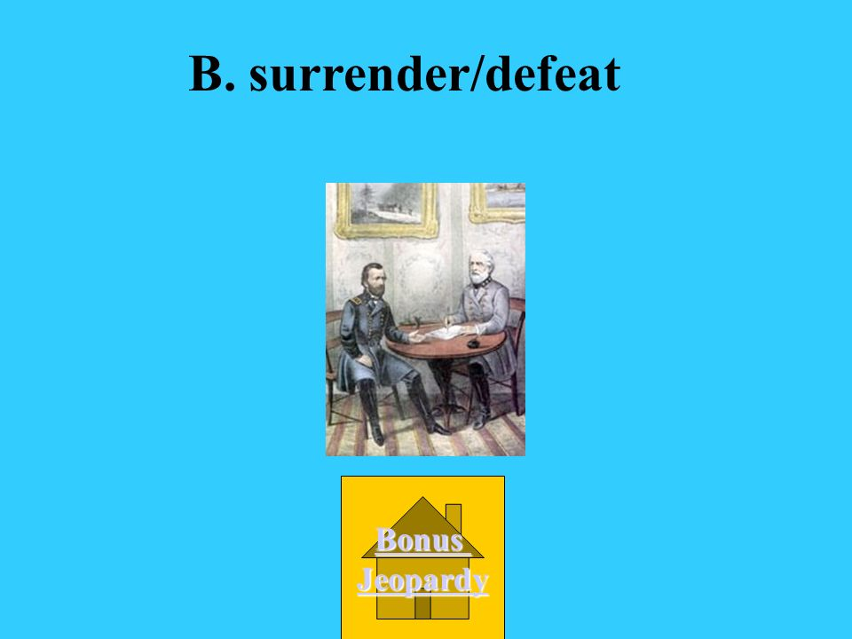 Which words go together because they have similar meanings? A. blockade/victory B. surrender/defeat C. election/victory D. surrender/victory