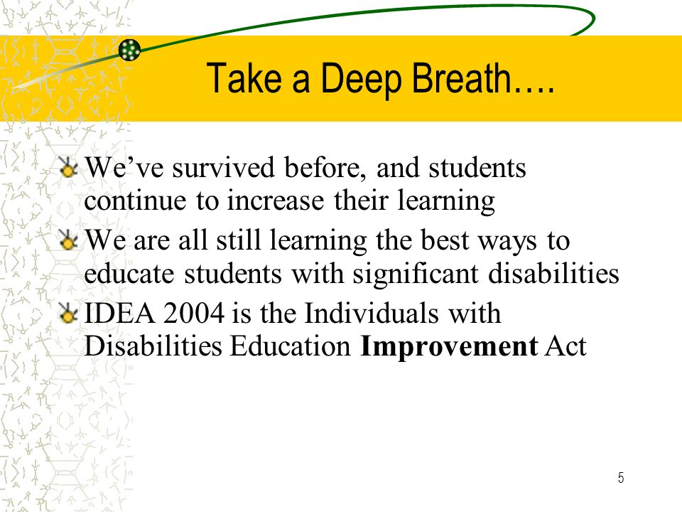5 Take a Deep Breath…. Weve survived before, and students continue to increase their learning We are all still learning the best ways to educate stude