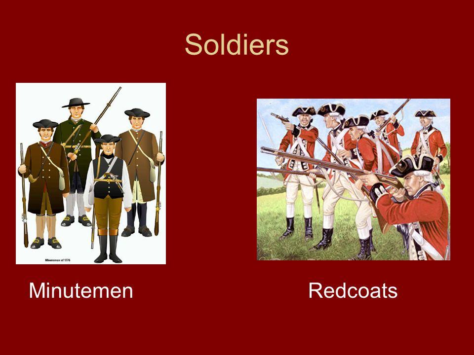 Soldiers Minutemen Redcoats