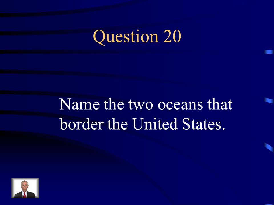 Answer 19 What is --along the Pacific Coast, stretching from California to Canada?