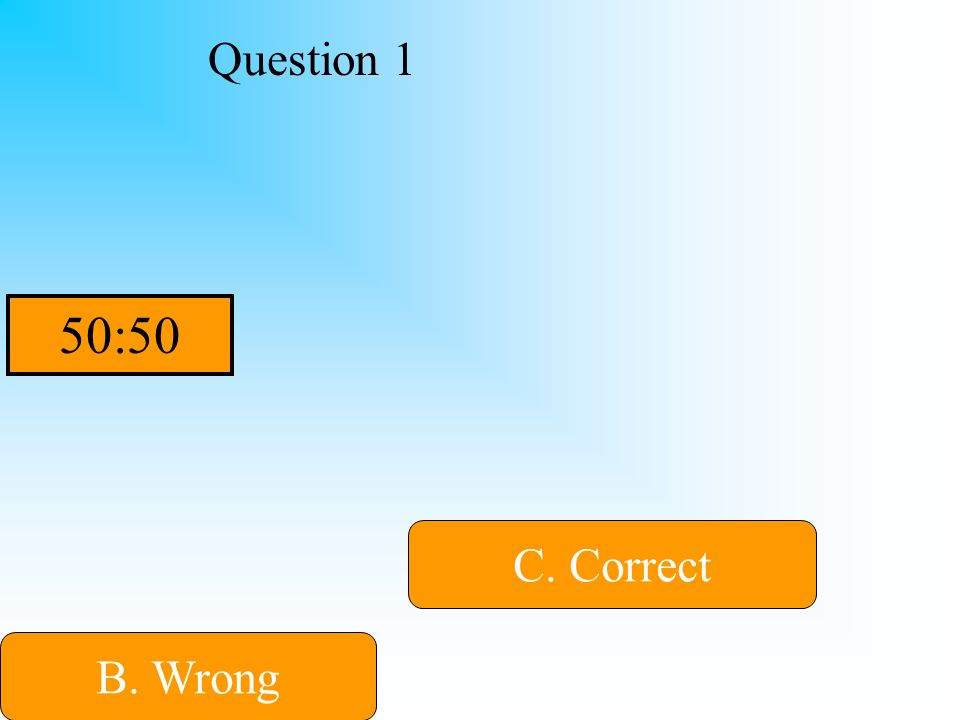 Hint Question 1 B. Wrong C. Correct D. Wrong A. Wrong